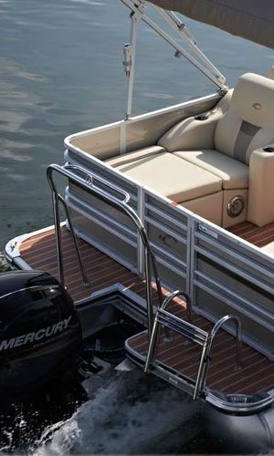 3 Step Stainless Pontoon Boat Ladder