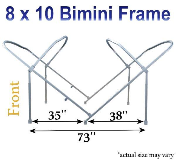 Heavy Duty Pontoon Bimini Top (8' x 10' x 1-1/4