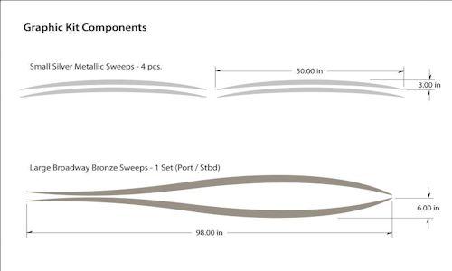 Pontoon Graphics Kit - Vinyl decals for pontoon boats