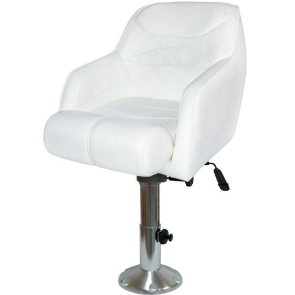 Captain Boat Seats >> Flip Up Bolster Boat Seat W Adjustable Sliding Pedestal