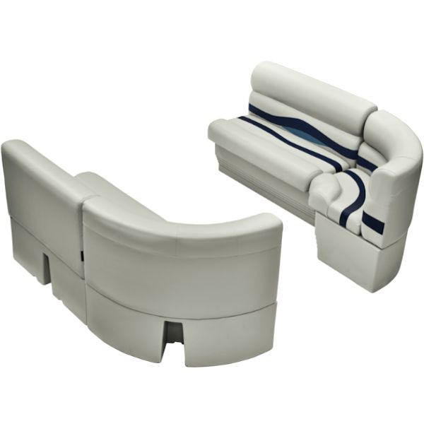 recliner corner groups bow radius pontoon boat seats front group ws14031