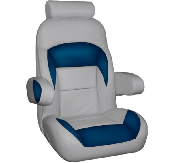 Captains Boat Seat With Flip Up Arms And Headrest