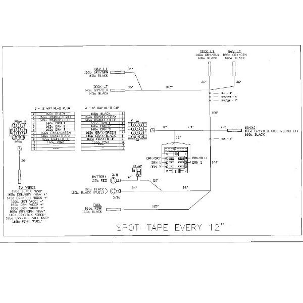 Wiring Diagram For Pontoon Boat : Pontoon boat wiring diagram