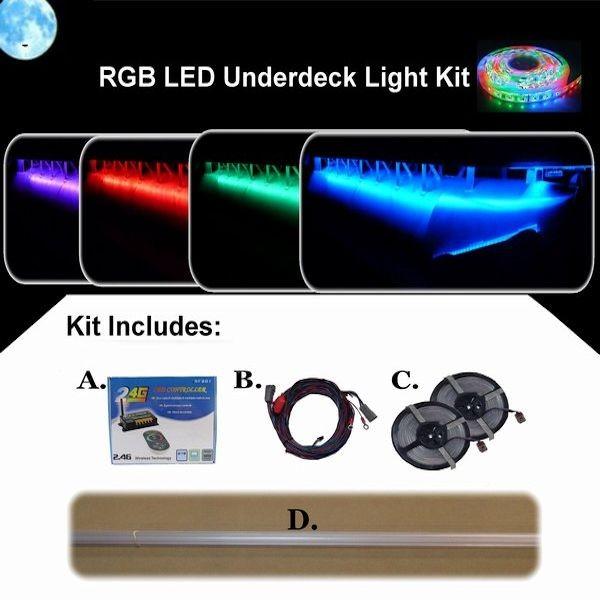 Rgb Led Underdeck Pontoon Boat Light Kit