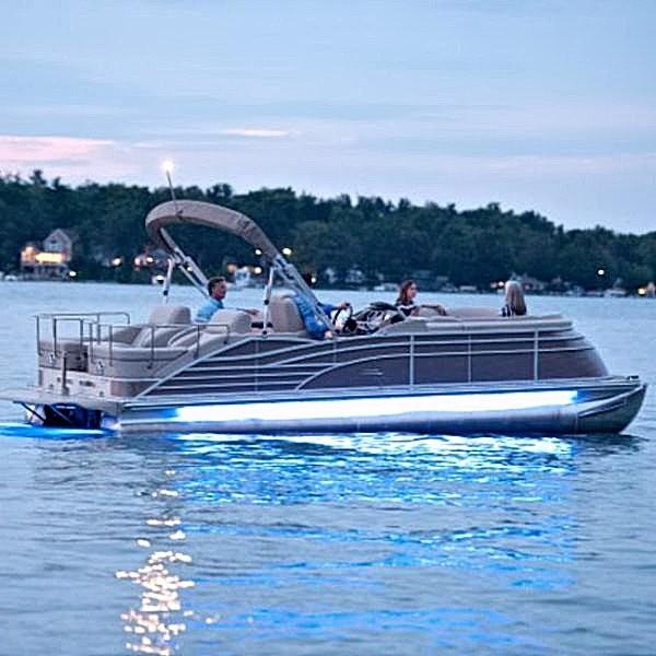LED Under Deck Pontoon Boat Light Kit - Ice Blue & LED Underdeck Pontoon Boat Lights