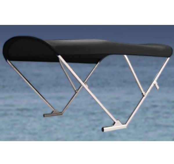 Electric Automatic Power Pontoon Bimini Top with black frame
