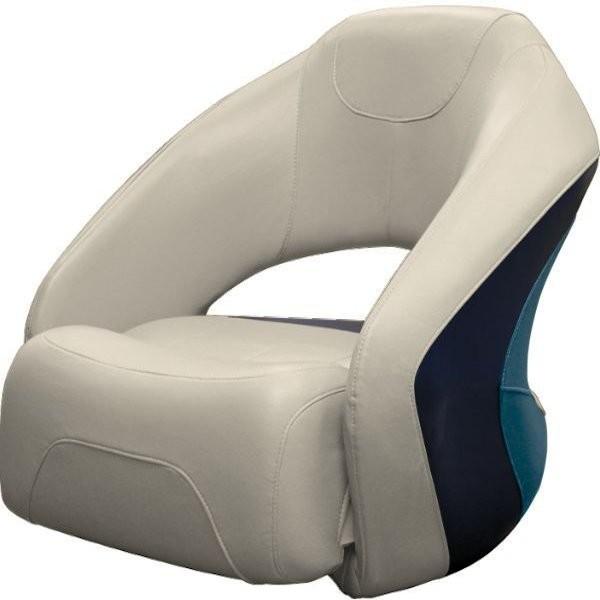 Captain Boat Seats >> Pontoon Bucket Seat With Flip Up Bolster Bm11007