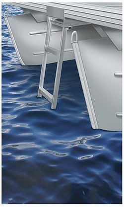 Step Under Deck Pontoon Ladder